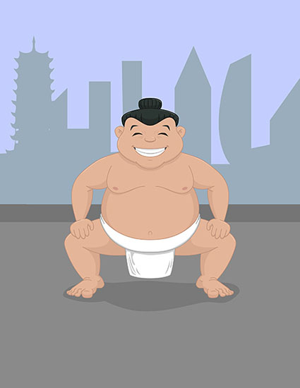 Sumo in the city